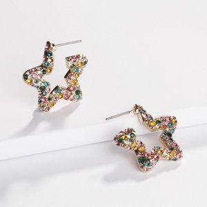 NWOT Anthropologie baublebar crystal star earrings